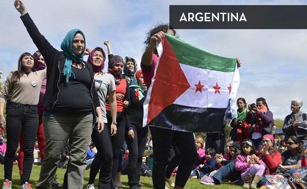 Actividad en la ciudad de Mar del Plata, Argentina en el marco del XXX Encuentro Nacional de Mujeres