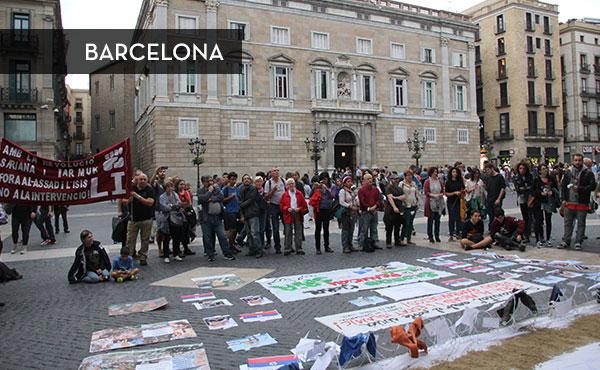 Actividad organizada en Barcelona por el Comité de Solidaridad con el Pueblo Sirio, Estado Español