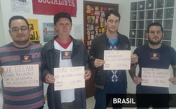 Actividad en Porto Alegre, Brasil organizada por la organización juvenil Vamos a Luta y la CST-PSOL