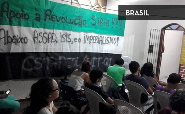 Actividad en Belem, Brasil organizada por la organización juvenil Vamos a Luta y la CST-PSOL