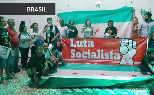 Actividad en Belem, Brasil organizada por Luta Socialista-PSOL, simpatizante de la UIT-CI