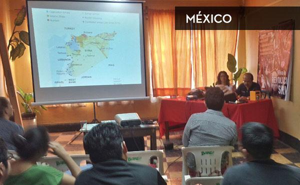Charla sobre la revolución siria y la crisis de los refugiados organizada en México por el POS-MAS