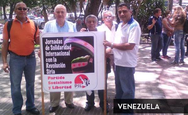 Actividad en Venezuela organizada por el Partido Socialismo y Libertad