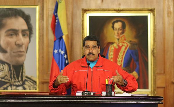 Maduro reconociendo la derrota