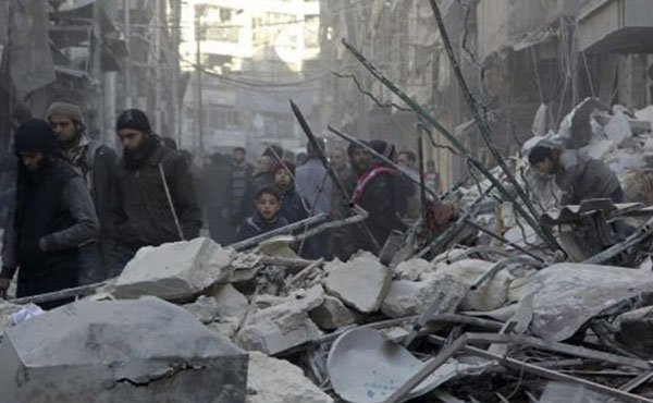 Alepo es el símbolo de la revolución siria. Llevan cinco años de resistencia a los bombardeos y a los tanques de la dictadura y a los intentos del reaccionario ISIS de tomar el control.