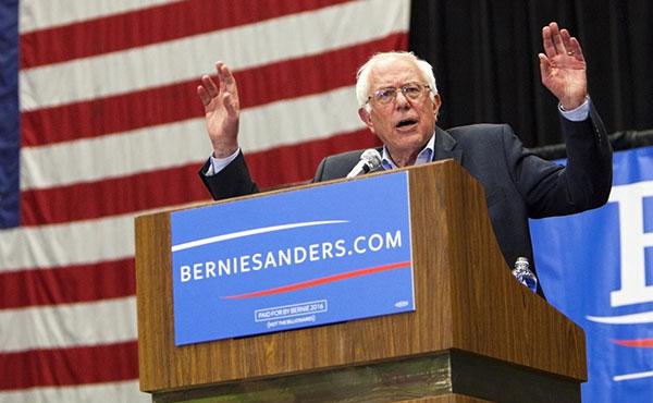 Sanders en campaña