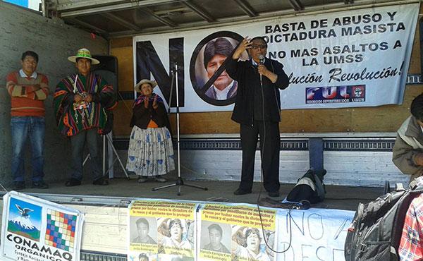 Bolivia: Marcha, acto y encuentro por el NO a la reelección de Evo Morales