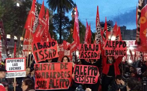 Actividad de solidaridad con Alepo en Buenos Aires, Argentina - 1-5-2016