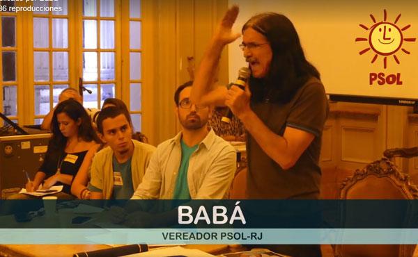 El Concejal de Río de Janeiro por el PSOL, Babá, realizó una plenaria de su mandato frente unas 150 personas el pasado 6/5/2016.
