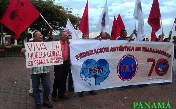 Propuesta Socialista de Panamá en una acción conjunta con la Federación Sindical