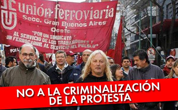 Nuevamente los ferroviarios combativos de la línea Sarmiento son criminalizados por luchar y perseguidos judicialmente