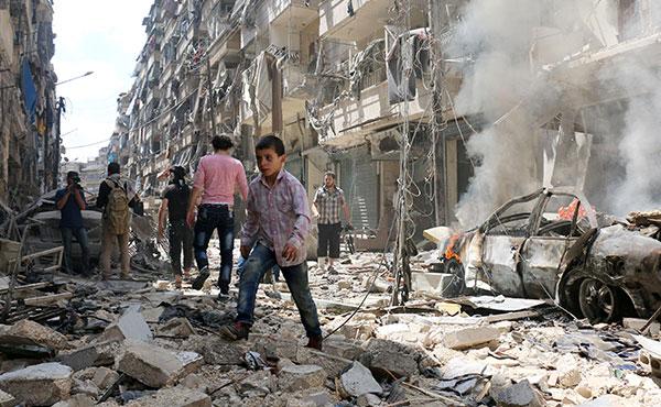 El genocida Al Assad y Rusia bombardean sistematicamente Alepo