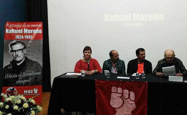 El acto fue convocado por el Movimiento al Socialismo (MAS), sección de la UIT-CI.