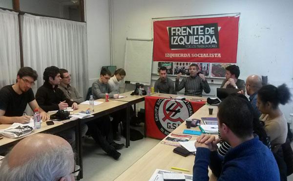 El diputado nacional de nuestro partido argentino Izquierda Socialista se encuentra desarrollando una gira internacional.