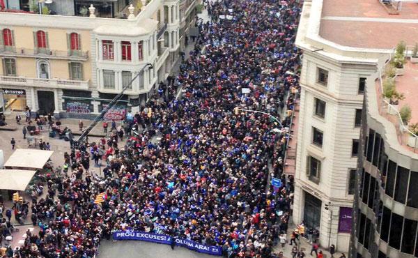 Barcelona, Estado Español: 500.000 marchan en favor de los refugiados
