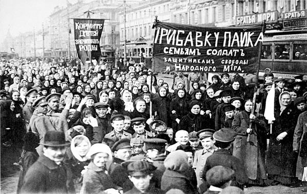 Las mujeres dando comienzo a la revolución de febrero