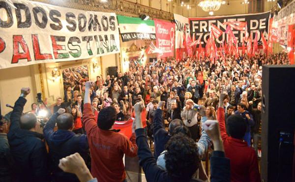 Acto en solidaridad con el pueblo palestino en 2014