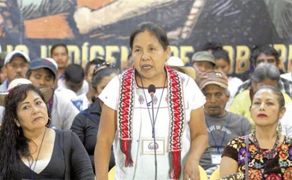 Candidata indígena mexicana