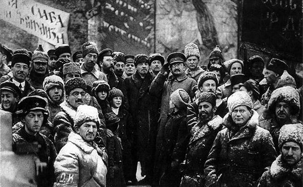 Lenin y Trotsky encabezaron la revolución de Octubre