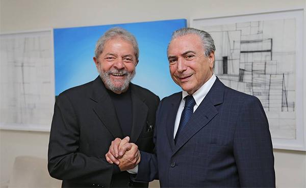 Lula y Temer en 2015
