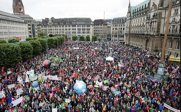 Protestas en Hamburgo contra el G20