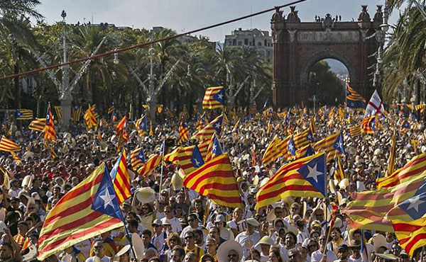 El pueblo catalán se viene manifestando masivamente por su independencia.