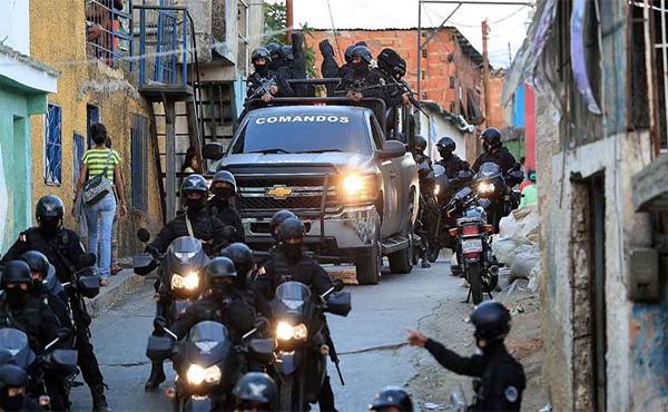 Servicio Bolivariano de Inteligencia Nacional, la policía política venezolana