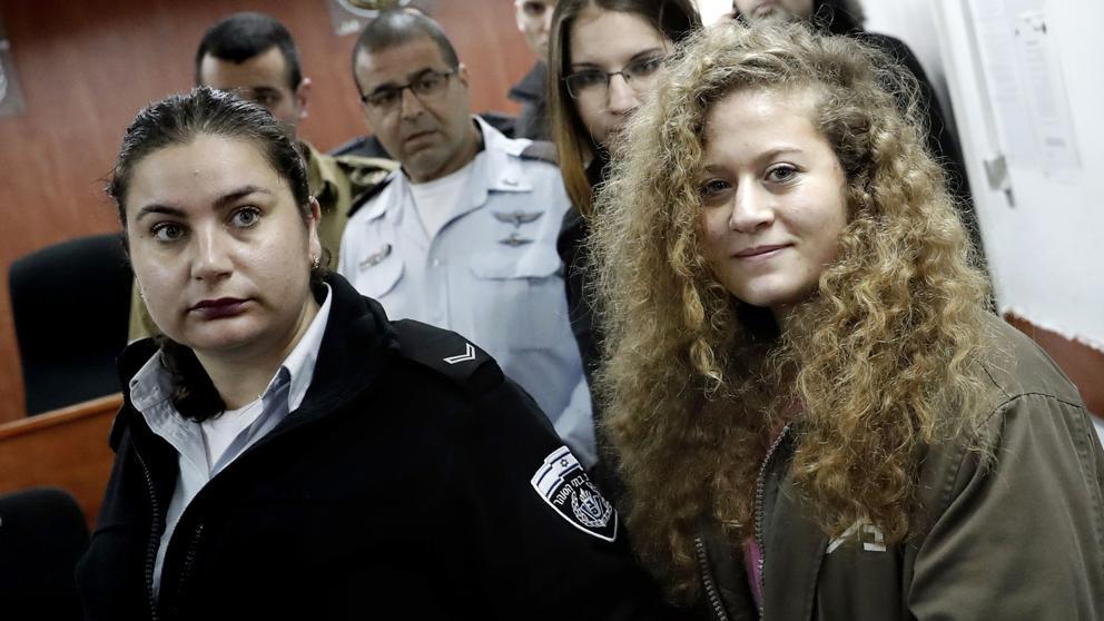 Ahed Tamimi llega a corte militar de Israel