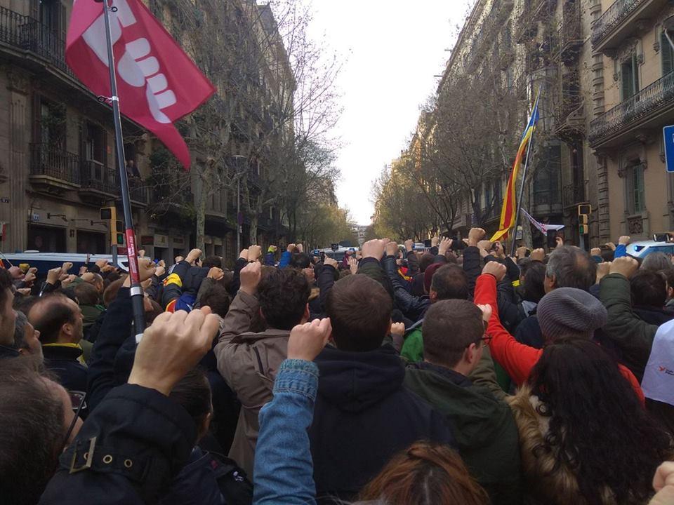 La respuesta del pueblo Catalán ante la detención de Puigdemont