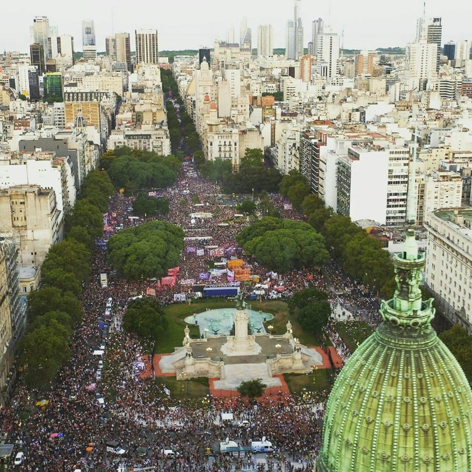 Movilizacion 8M en Buenos Aires