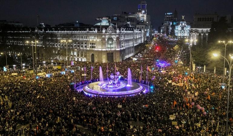 Movilización del 8M en Madrid