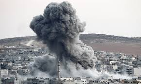 Bombardeo imperialista en Siria