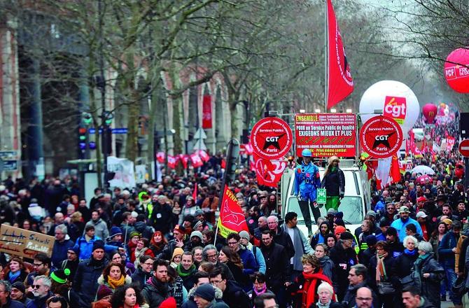 Huelga Ferroviaria en Francia