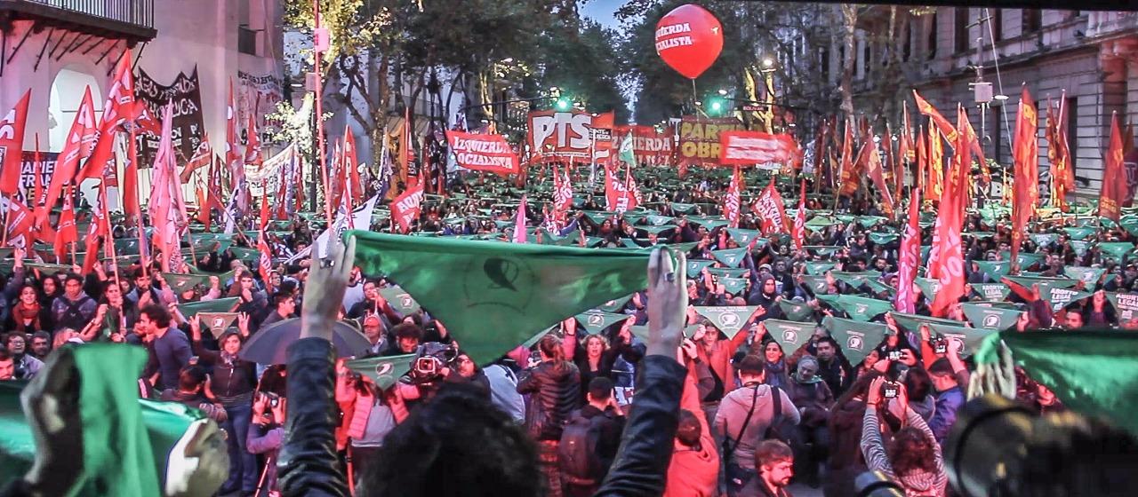 Acto del Frente de Izquierda y los trabajadores, Argentina