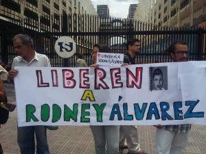 Concentración en Caracas por la libertad de Rodney Alvarez