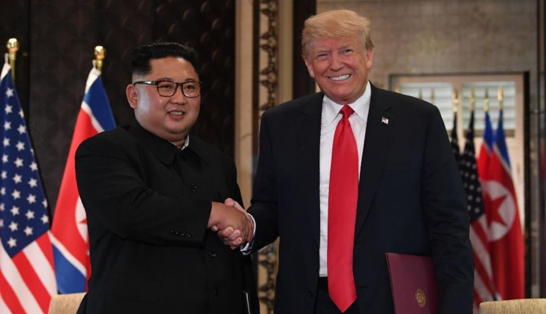 Trump y Kim en la cumbre en Singapur