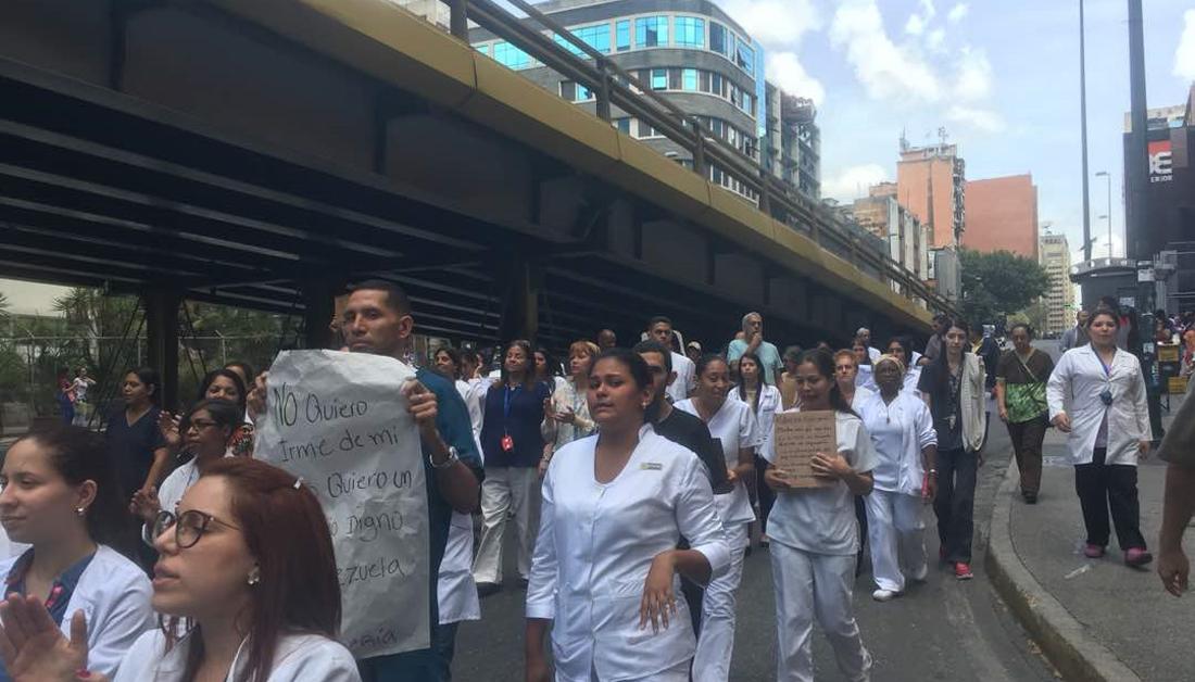 Huelga de enfermeras y enfermeros en Caracas