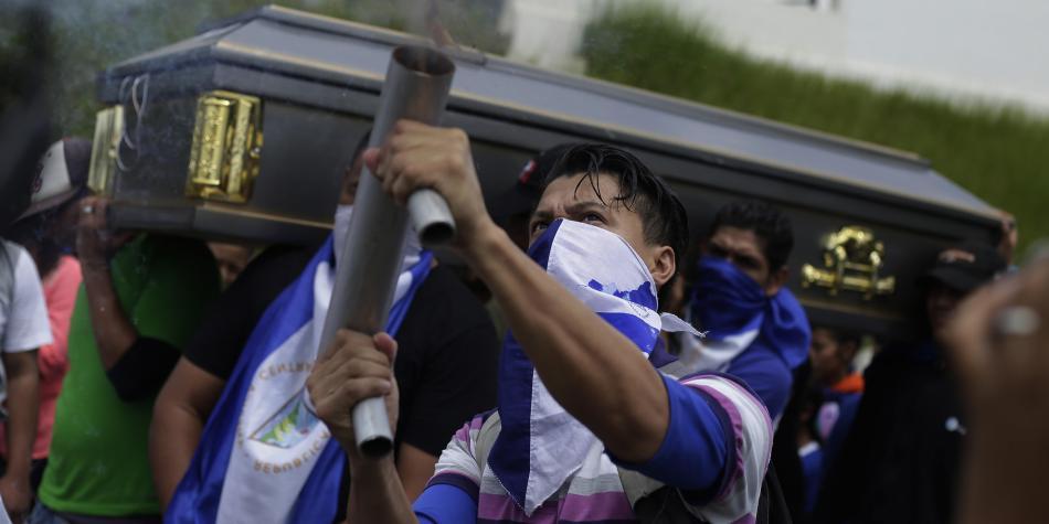 Movilizaciones contra los asesinatos de la represión de Daniel Ortega Nicaragua