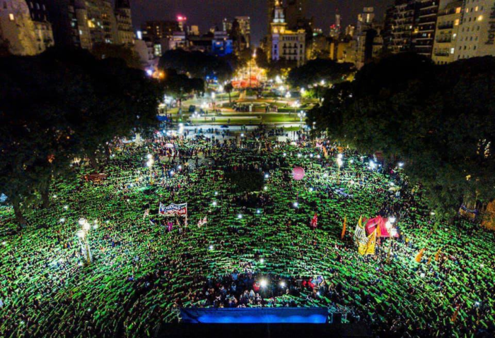Pañuelazo en Argentina Congreso Nacional