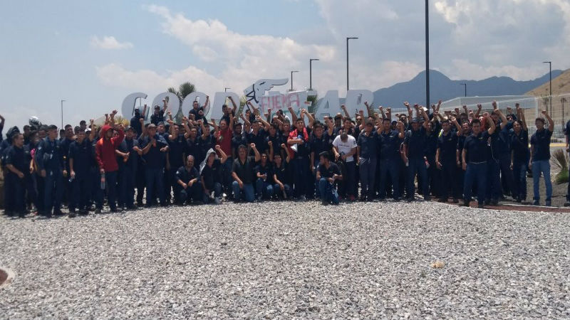 Lucha de Goddyear en Mexico