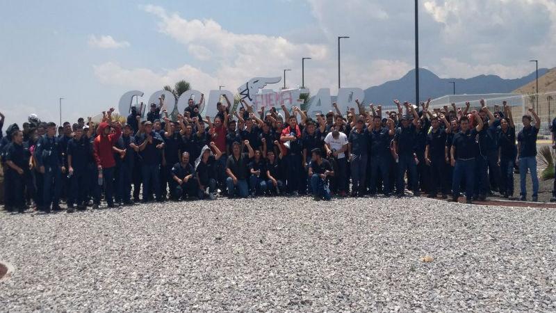 Trabaajadores de goodyear Mexico