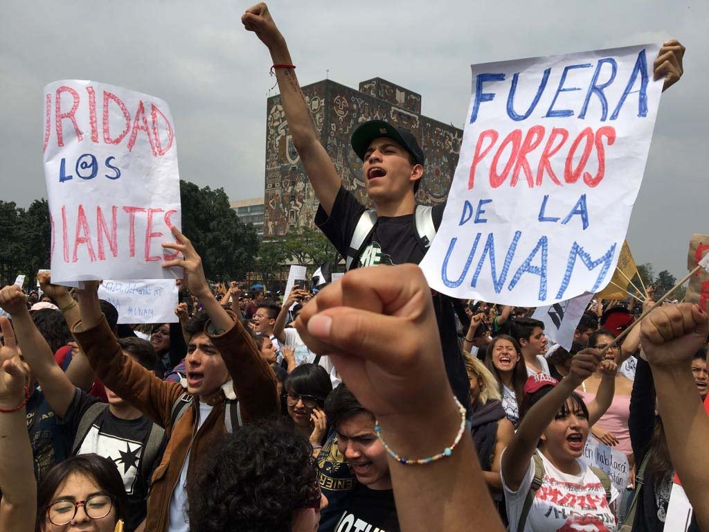 Lucha estudiantil en Mexico
