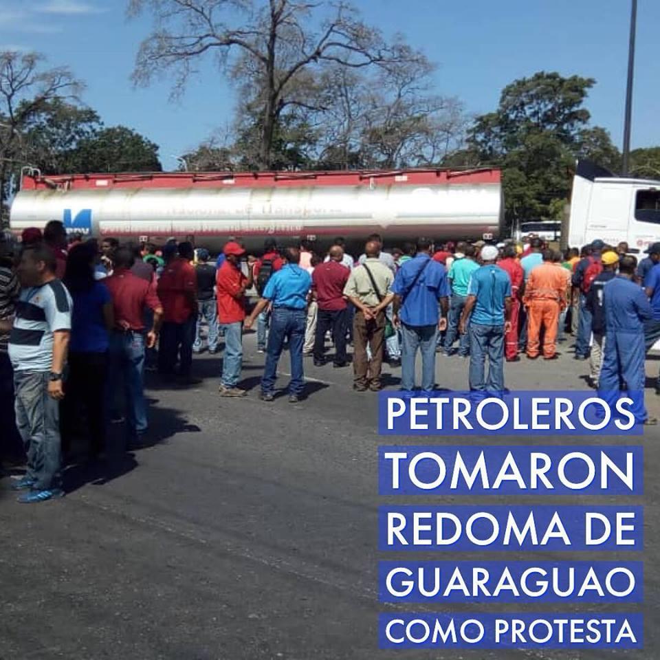 Huelga de petroleros Venezuela