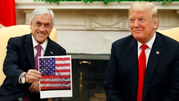 Piñera junto a Donald Trump