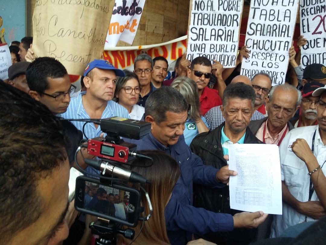 Venezuela movilizacion contra tabla salarial
