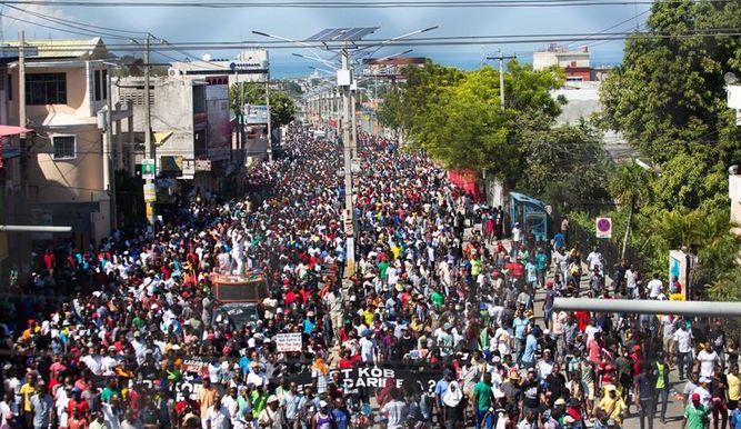 Haiti jornada de luchas contra la corrupción y Moise
