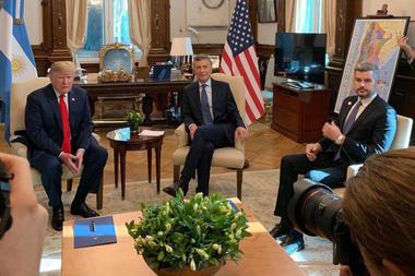 G20- Macri Trump y Marcos Peña