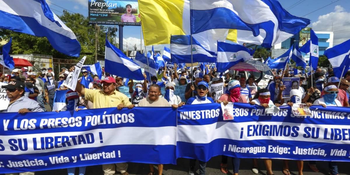 nICARAGUA EXIGIENDO LA LIBERTAD DE LOS PRESOS POLÍTICOS