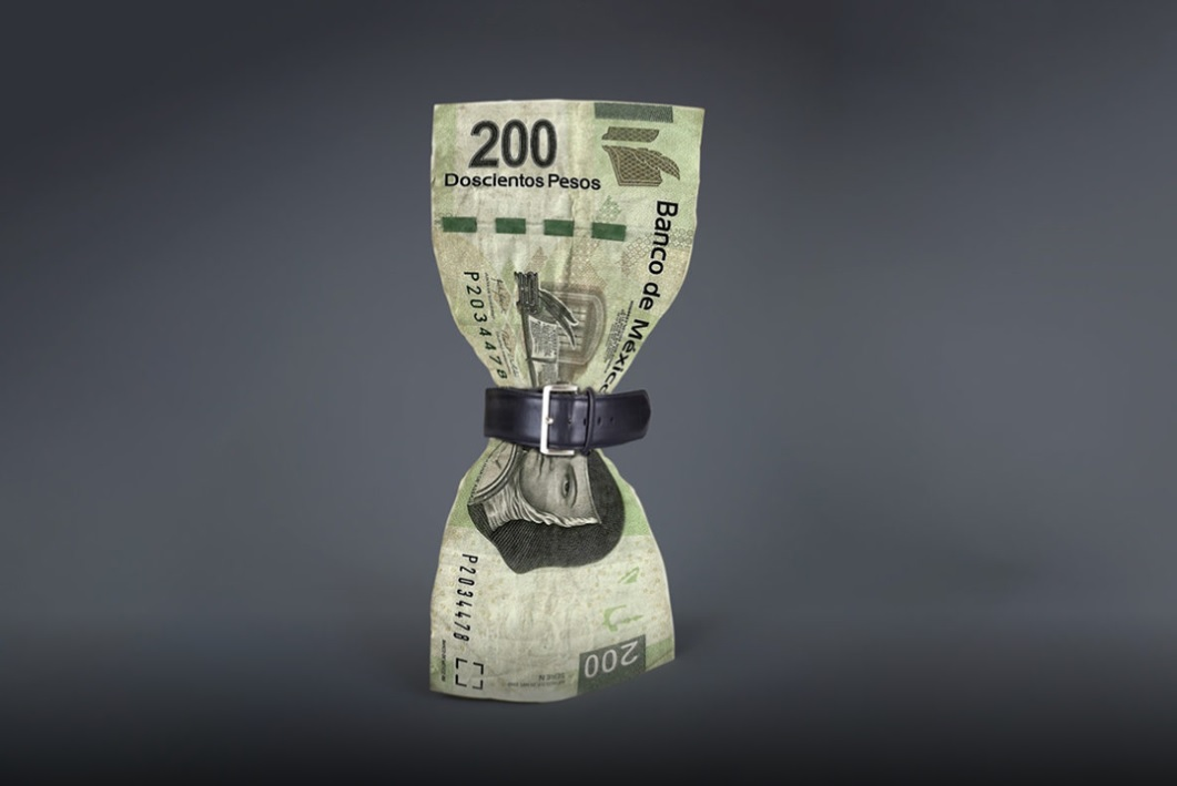 peso mexicano cinturon