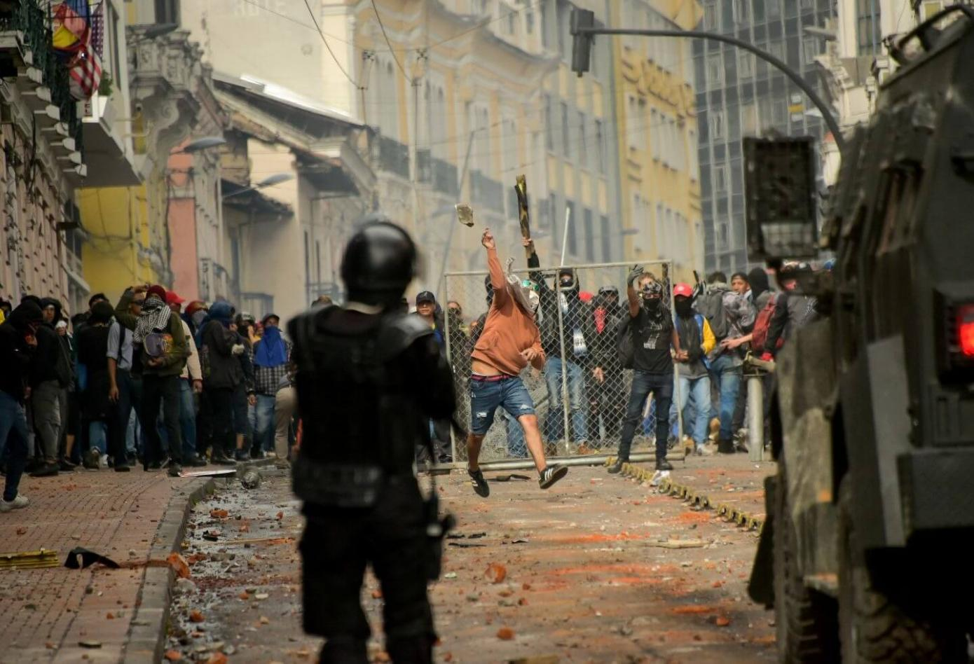 protestas en ecuador 5 1 0